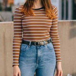 Tops - Striped long sleeve ringer
